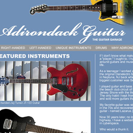 Adirondack Guitar, design proposal